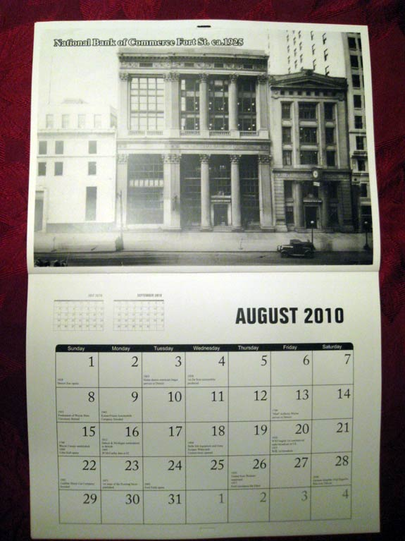 2010 Detroit Historical Photograph Calendar